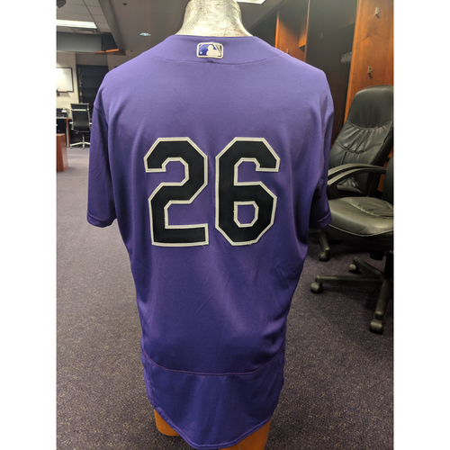 Photo of Colorado Rockies Game-Used 2019 Spring Training Jersey - David Dahl