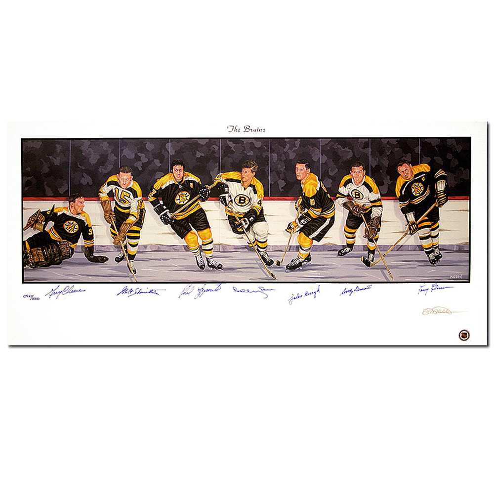 BOSTON BRUINS Legends autographed Lithograph