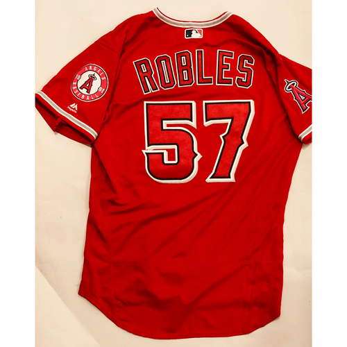 Photo of 2019 Mexico Series - Game-Used Jersey - Hansel Robles, Houston Astros at Los Angeles Angels - 5/4/19