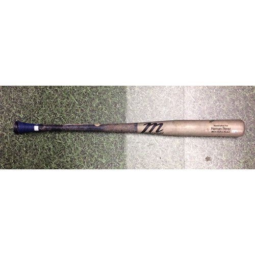 Hernan Perez 09/11/19 Game-Used Cracked Bat