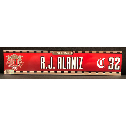 Photo of R.J. Alaniz -- Game-Used 2019 Regular Season Locker Tag