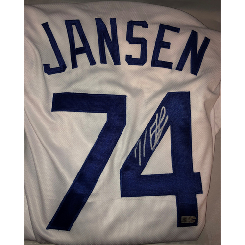Photo of Kenley Jansen Authentic Autographed Los Angeles Dodgers Jersey - Size 48