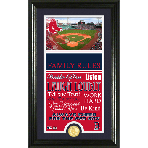 Photo of Boston Red Sox Personalized Family Rules Photo Mint