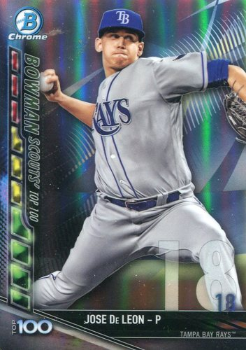Photo of 2017 Bowman Chrome Scouts Top 100 Refractors #BTP18 Jose De Leon