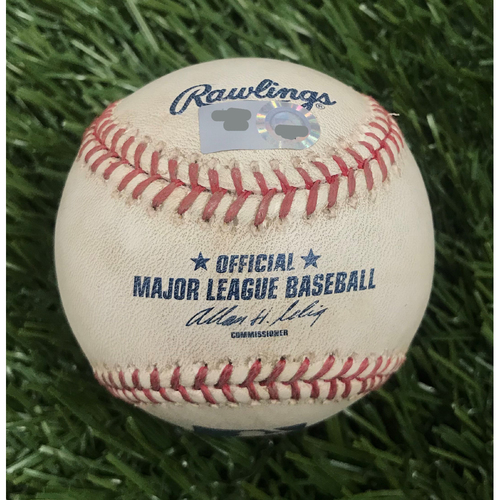 Photo of Game-Used Baseball from June 8, 2010 - Stephen Strasburg Debut - Pitcher - Evan Meek, Batter - Willie Harris Foul