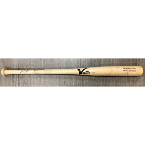 Photo of Game Used Broken Bat: Jesus Aguilar line out off Derek Law - September 7, 2019 v TOR