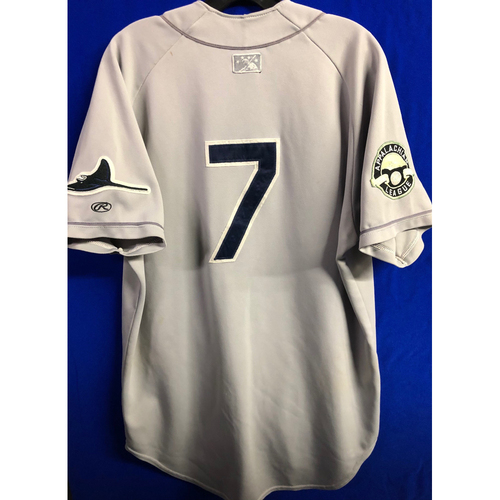 Team Issued Appalachian League Gray Jersey - #7