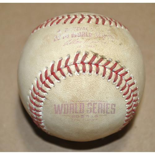 Photo of Game-Used Baseball - 2014 World Series Game 7 - Kansas City Royals vs. San Francisco Giants - Batter: Brandon Crawford, Pitcher: Wade Davis, Ball in Dirt, Top 7