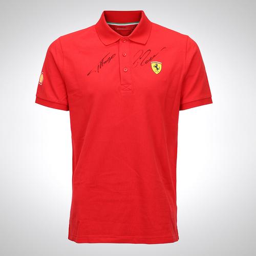 Photo of Fernando Alonso & Felipe Massa 2013 Signed Ferrari Shirt With Programme