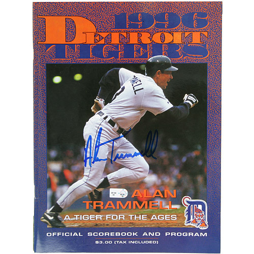Detroit Tigers Alan Trammell Autographed 1996 Tigers Game Program