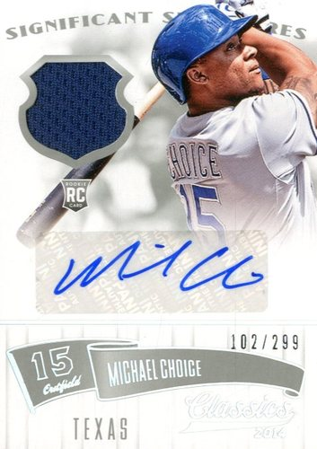 Photo of 2014 Classics Significant Signatures Jerseys Silver #90 Michael Choice/299