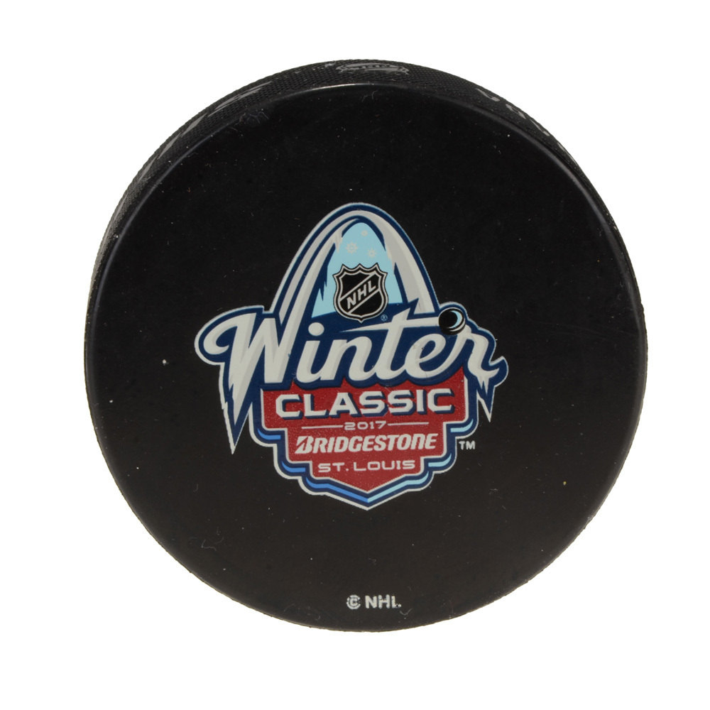 2017 Winter Classic St. Louis Blues vs. Chicago Blackhawks Warm-Up Used Puck