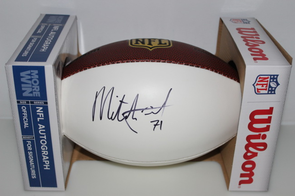 CHIEFS - MITCHELL SCHWARTZ SIGNED PANEL BALL