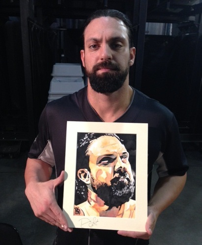 Damien Sandow Signed Painting by Rob Schamberger