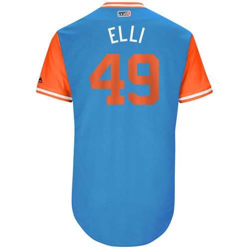 "Photo of Brian ""Elli"" Ellington Miami Marlins 2017 Game-Used Players Weekend Jersey"