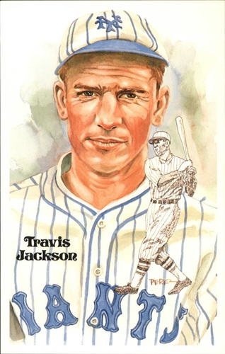 Photo of 1980-02 Perez-Steele Hall of Fame Postcards #179 Travis Jackson -- HOF Class of 1982