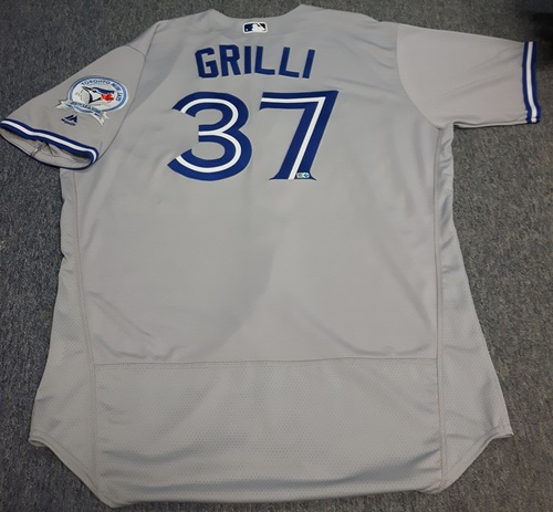 Photo of Authenticated Game Used Jersey - #37 Jason Grilli (September 19, 2016): 0.2 IP, 0 ER, 2 Walks, 1 K. Size 50.