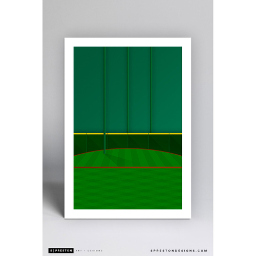 Photo of Minute Maid Park Tal's Hill- Minimalist Ballpark Art Print by S. Preston  - Houston Astros