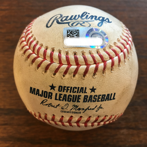 Photo of Game-Used Baseball: Mitch Moreland Home Run Off Gerrit Cole