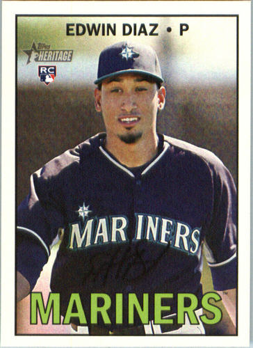 Photo of 2016 Topps Heritage #559A Edwin Diaz Rookie Card