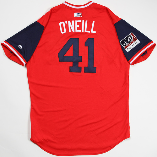 "Photo of Tyler ""O'Neill"" O'Neill St. Louis Cardinals Game-Used 2018 Players' Weekend Jersey"