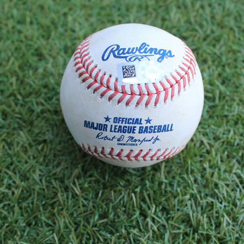 Photo of Game-Used Baseball: Christin Stewart 14th Career Double (DET @ KC - 6/12/19)