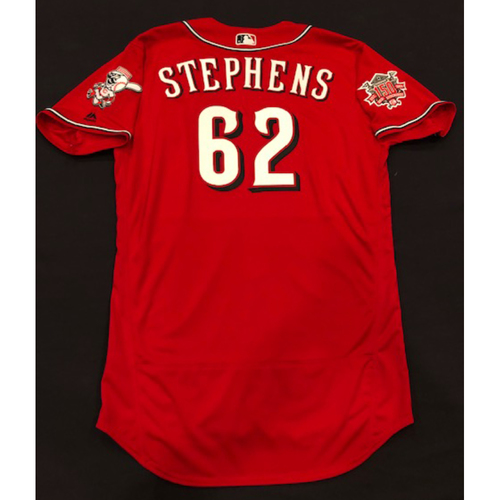 "Photo of Jackson Stephens -- Team-Issued ""Los Rojos"" Jersey -- D-backs vs. Reds on 9/6/19 -- Jersey Size 48"