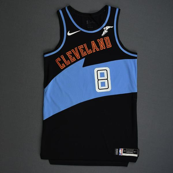 Image of Jordan Clarkson - Cleveland Cavaliers - Game-Worn Classic Edition 1994-96 Road Jersey - 2019-20 Season