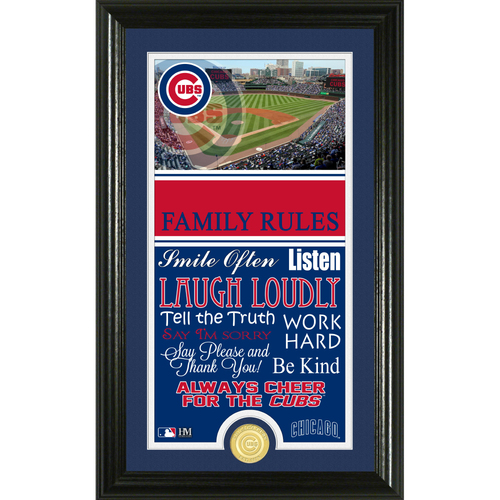 Photo of Chicago Cubs Personalized Family Rules Photo Mint