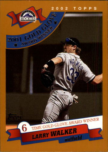 Photo of 2002 Topps #713 Larry Walker GG