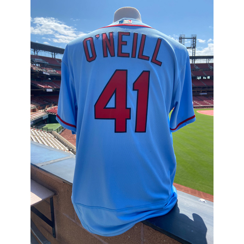 Photo of Cardinals Authentics: Tyler O'Neill Team Issued Road Alternate Blue Jersey