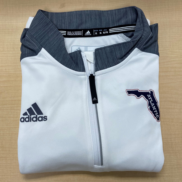 Photo of FAU Adidas White 1/4 Zip Pullover Jacket (Men's XL)
