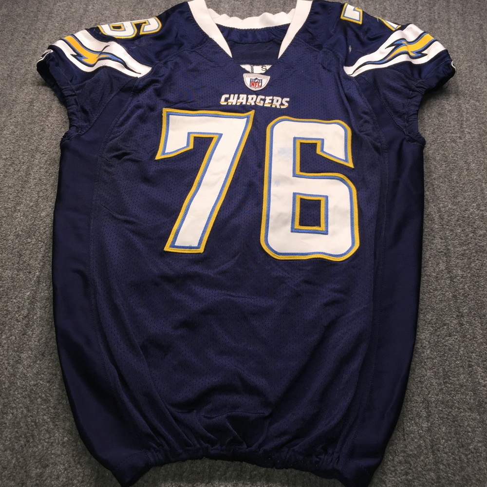 Chargers - Cam Thomas Game Used Jersey Size 52
