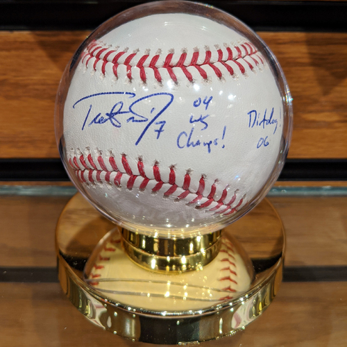 Photo of Trot Nixon #7 '04 WS Champs, Dirtdog 06' Autographed Baseball
