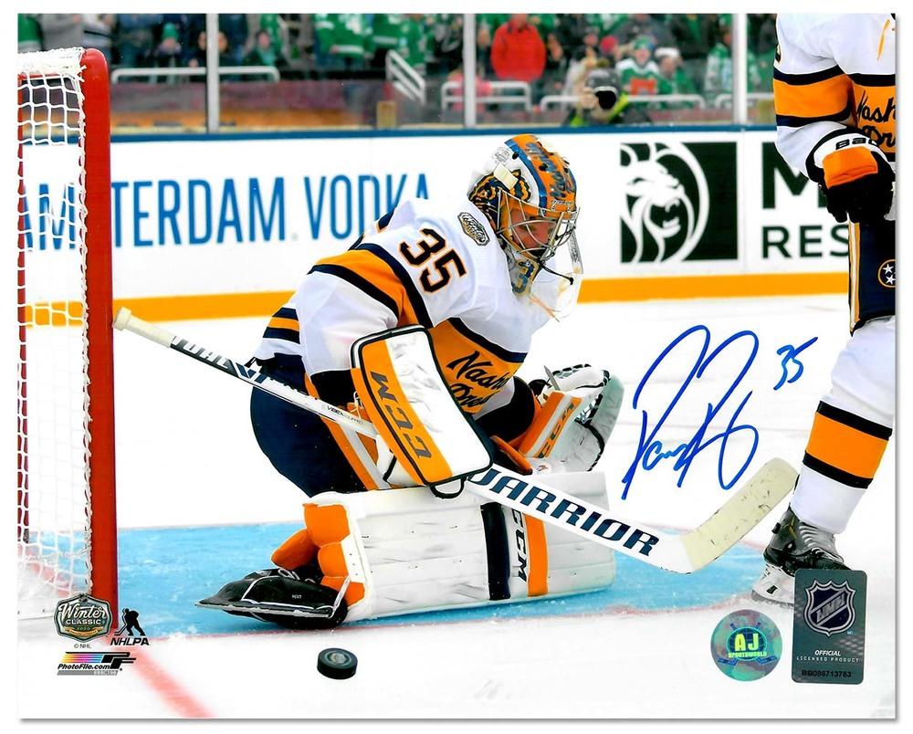 Pekka Rinne Nashville Predators Signed 2020 Winter Classic Goalie 8x10 Photo