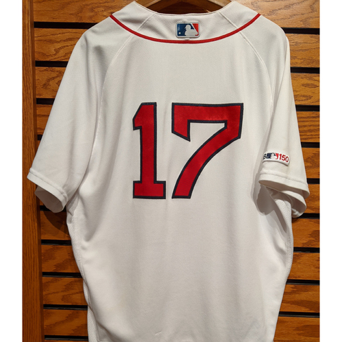 Photo of Nathan Eovaldi #17 Game Used Home White Jersey