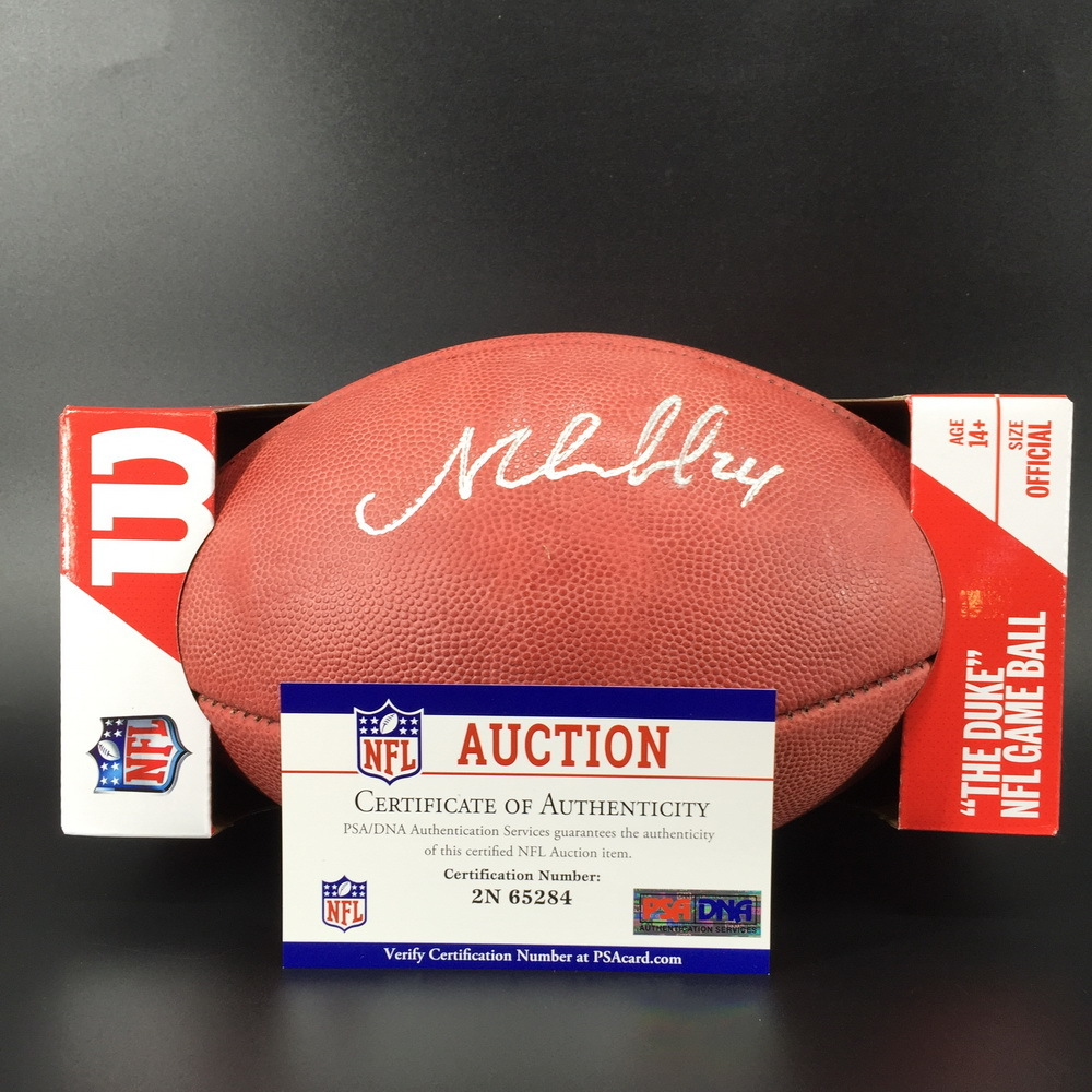 NFL - Browns Nick Chubb Signed Authentic Football w/ 100 Seasons Logo