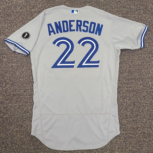 Photo of Authenticated Team Issued Jersey: #22 Chase Anderson (2020 Season). Set 2. Size 44.