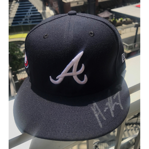 Photo of Max Fried Autographed MLB New Era Memorial Day Cap