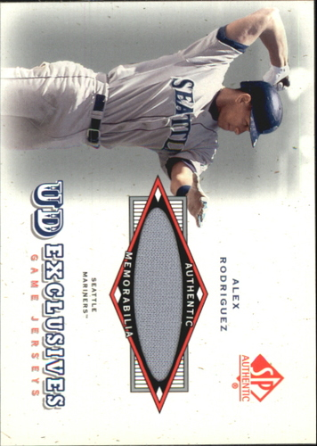 Photo of 2001 SP Authentic UD Exclusives Game Jersey #AR Alex Rodriguez
