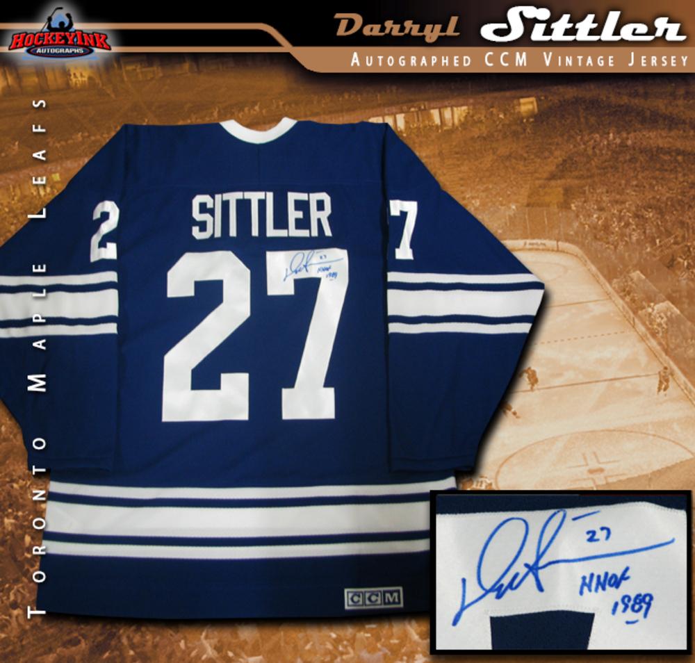 DARRYL SITTLER Signed Toronto Maple Leafs CCM Vintage Jersey