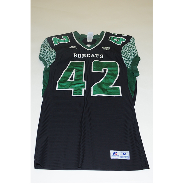 Photo of # 42 - Official OHIO BOBCATS Game Worn Football Jersey (2011) - SIZE MEDIUM