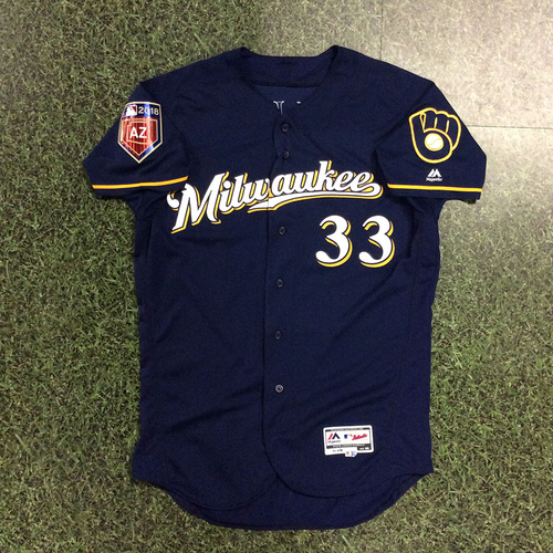 Photo of Brett Phillips 2018 Game-Used Spring Training Jersey