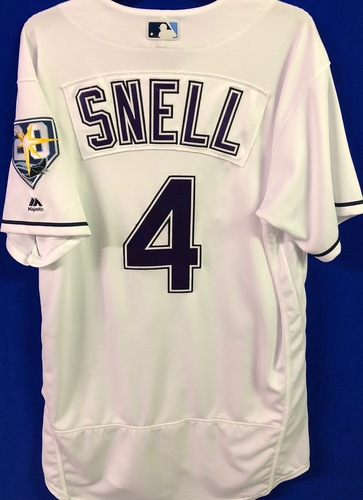 Photo of 20th Anniversary Game Used Devil Rays Jersey: Blake Snell (W, 6.0 IP) - June 9 v SEA