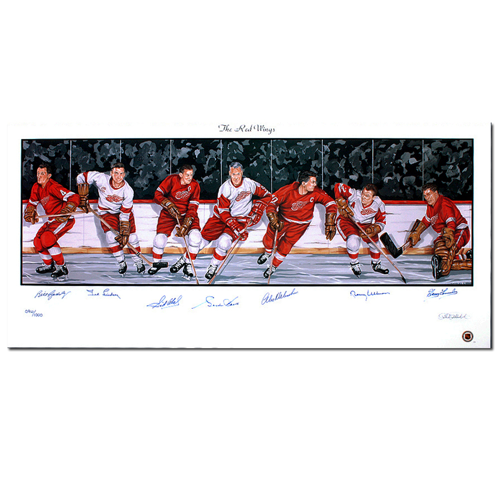 DETROIT RED WINGS Legends autographed Lithograph