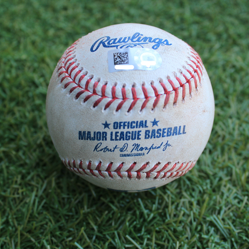 Game-Used Baseball: Spencer Turnbull Pitched Strikeout to Cheslor Cuthbert (DET @ KC - 6/11/19)