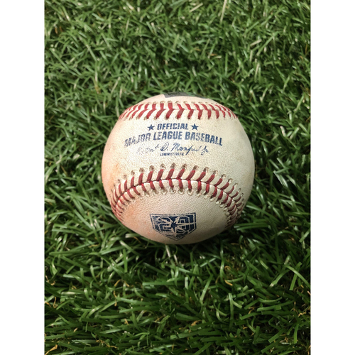 Photo of 20th Anniversary Game Used Baseball: Craig Kimbrel strikes out Carlos Gomez - FIRST SAVE OF 2018 - March 30, 2018 v BOS