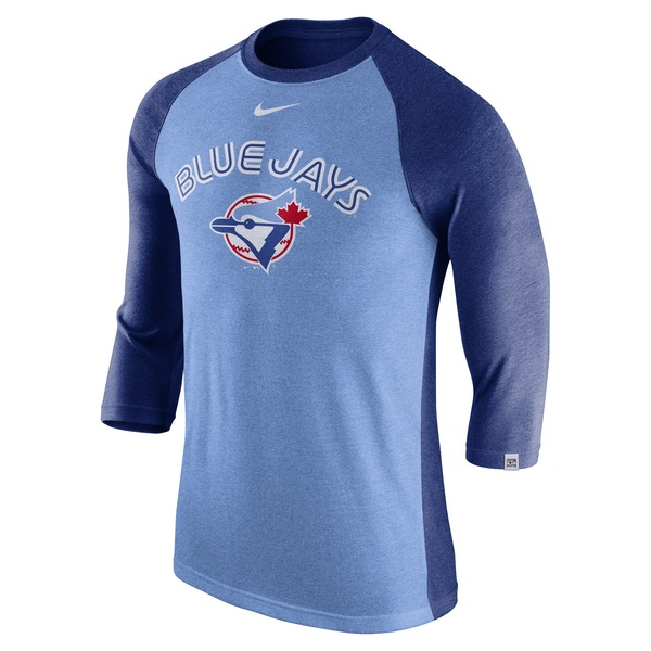 Toronto Blue Jays Cooperstown Tri-Blend 3/4 Sleeve Raglan by Nike