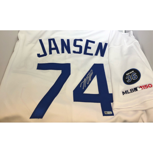 Photo of Kenley Jansen Authentic Autographed Los Angeles Dodgers Jersey- Newcombe - Size 48