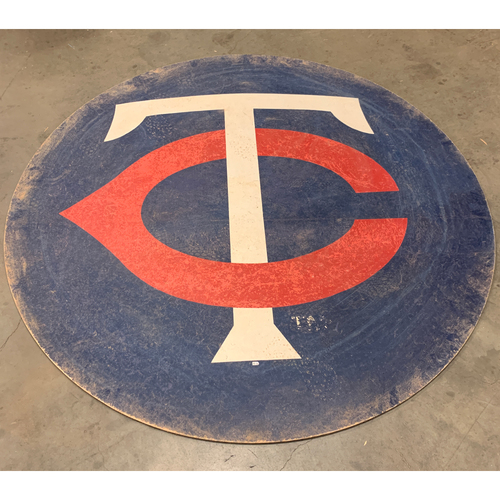Photo of Minnesota Twins - Game-used On Deck Circle From Finale 2019 Home Game & Nelson Cruz 400th HR